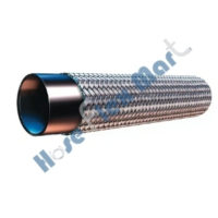 Smooth Bore Teflon hose with Stainless Steel Braid