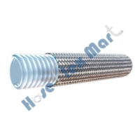 Convoluted Teflon hose with Stainless Steel Braid